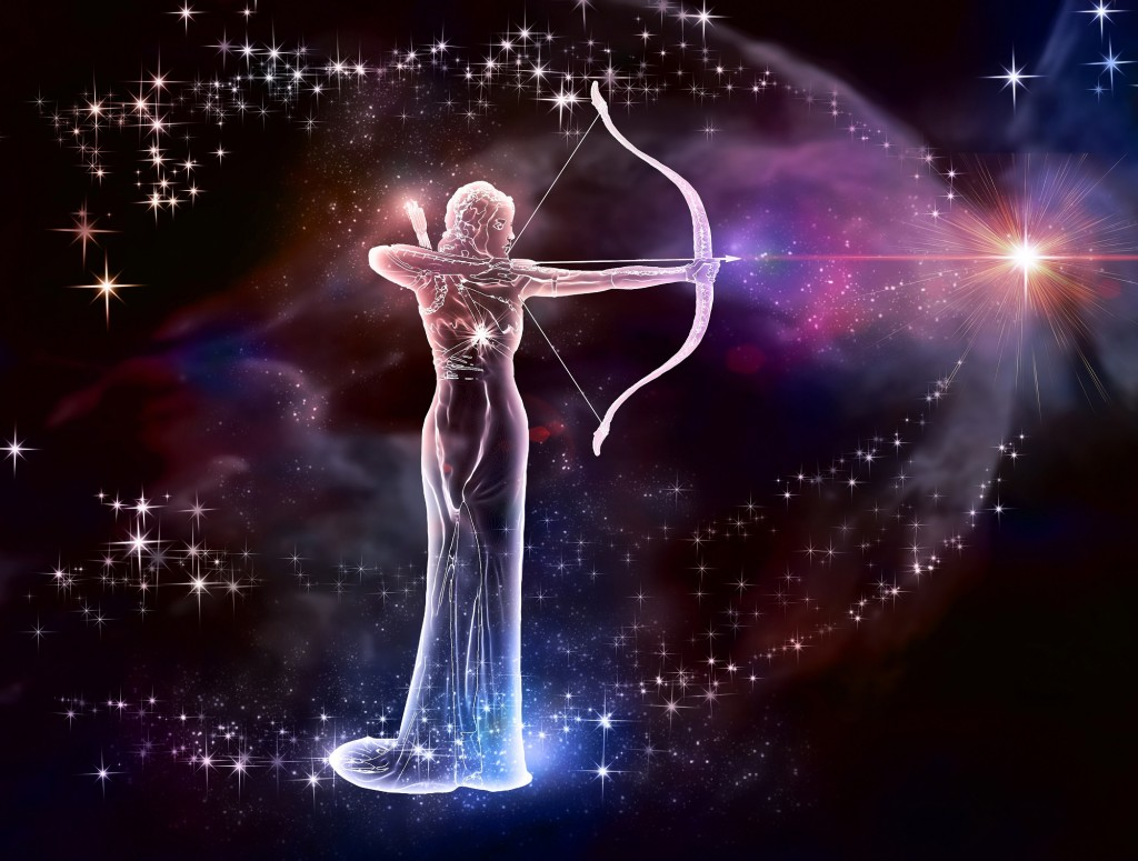 20395594 - if your sign is sagittarius, this image is for you  archer is a fire sign  cosmic fire, a warrior of the universe